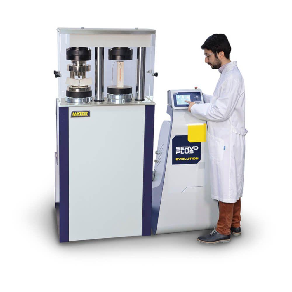 Aparat pentru determinarea modulului de elasticitate la compresiune la cimenturi și produse de reparație