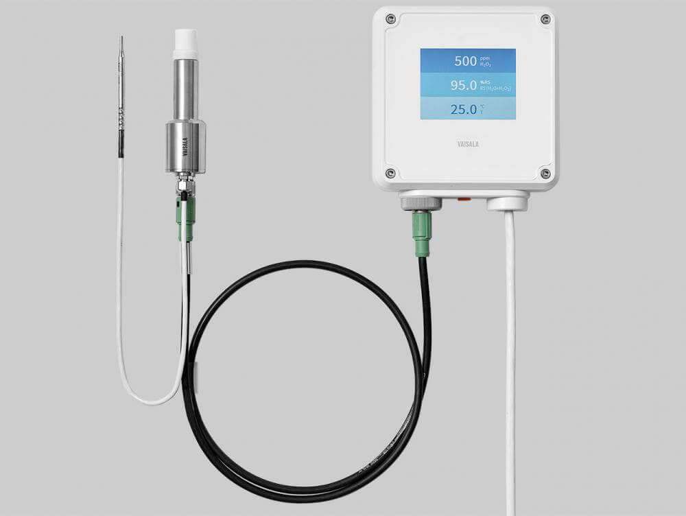 Transmitator seria indigo pentru temperatura punct de roua umiditate ulei dioxid de carbon apa oxigenata peroxid de hidrogen sonde inteligente vaisala tecnoservice equipment romania