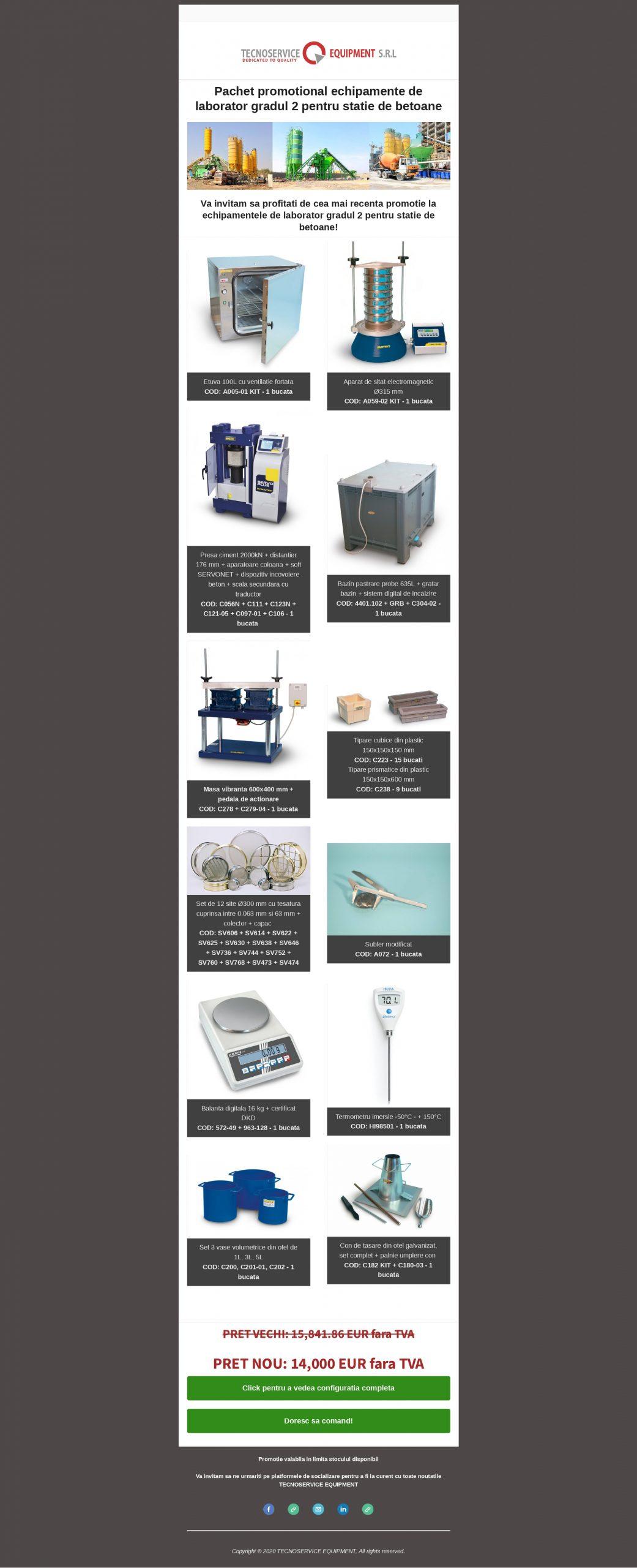 Pachet promotional - Echipamente pentru laborator de grad 2